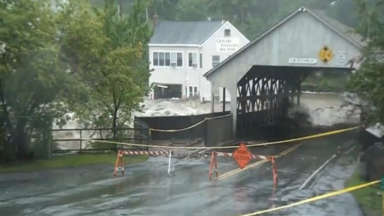 Quechee&#039;s historic bridge swept away