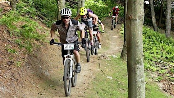 SingleSpeed Mountain Bikers in Stowe Village