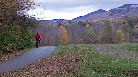 Mount Mansfield, VT from the Stowe Bike Path