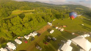 Balloon rises above Quechee Fair grounds