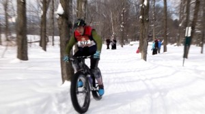 Fat Tire biker competes in Stowe Derby 2015