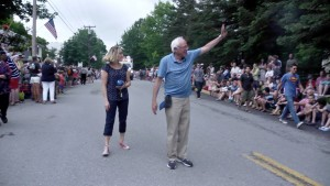 Bernie always loves a Vermont parade!