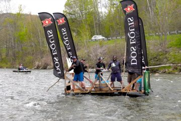 Home made raft competes in the Bridgewater raft race